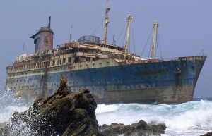 SS America in Dangerous Waters
